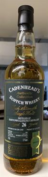 Dufftown 1988, 26yo, 51%. Cadenheads Authentic Collection.