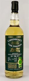 Glenallachie 1992, 26yo, 54,8%. Cadenheads Authentic Collection.