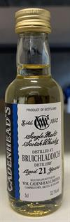 Bruichladdich 1991, 21yo, 52,1%. Cadenheads Authentic Collection Mini Bottle. 5cl.