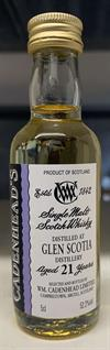 Glen Scotia 21yo, 52,2%. Cadenheads Authentic Collection Mini Bottle. 5cl.