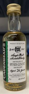 Speyside 1991, 26yo, 48,9%. Cadenheads Authentic Collection Mini Bottle. 5cl.