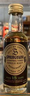 Springbank 15yo, 46%. Mini Bottle. 5cl.