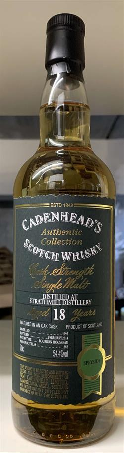 Strathmill 1995, 18yo, 54,4%, Cadenhead\'s Authentic Collection