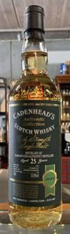 Tamnavulin 1992, 25yo, 52.9%. Cadenheads Authentic Collection.