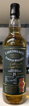 Tomatin 1989, 25yo, 51,9%. Cadenheads Authentic Collection.